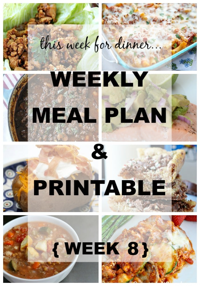 This Week for Dinner} Weekly Meal Plan #8 - Your Homebased Mom - weekly dinner meal plans