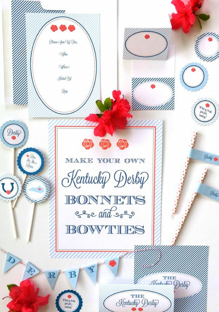 Kentucky Derby Party + Free Party Printables - Somewhat Simple