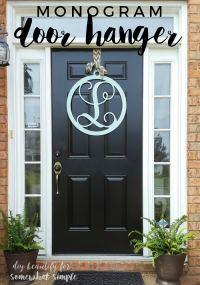 Monogram Door Hanger Wreath - Somewhat Simple