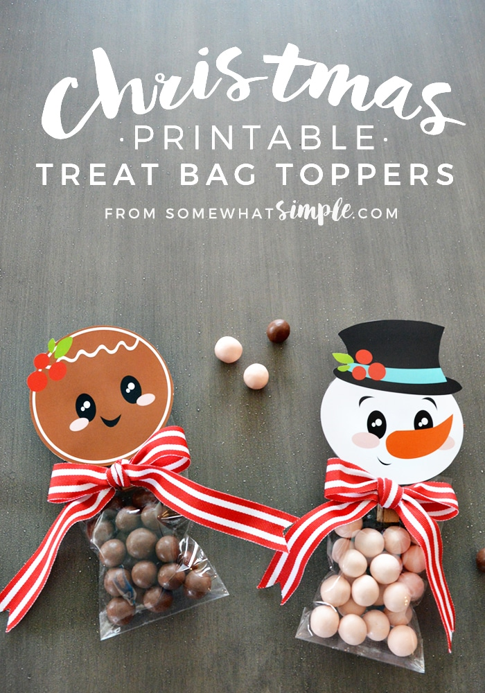 Christmas Treat Bag Toppers Printable - Somewhat Simple