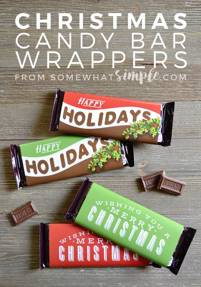 Christmas Candy Bar Wrappers Printable - Somewhat Simple