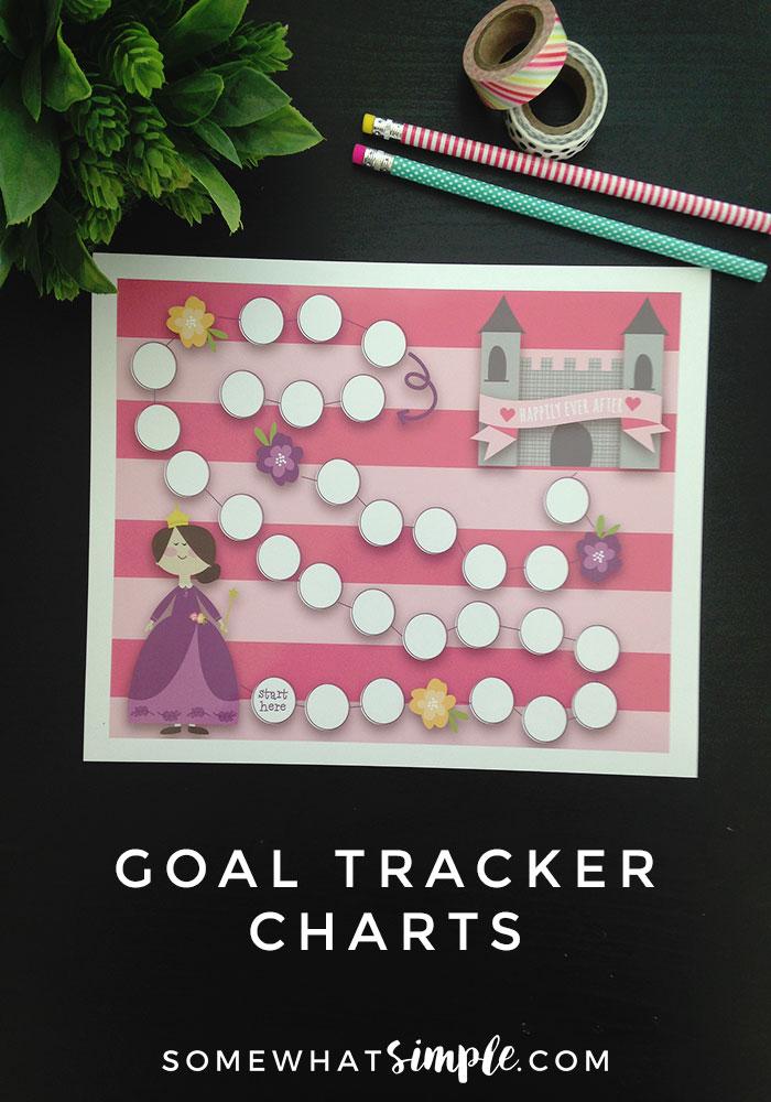 Goal Tracker Reward Chart for Kids - Somewhat Simple - progress chart for kids