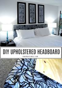 Easy DIY Upholstered Headboard Anyone Can Make | Somewhat ...