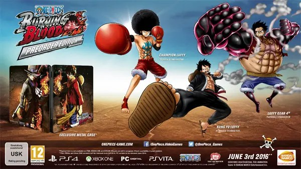 ONE PIECE BURNING BLOOD reserva