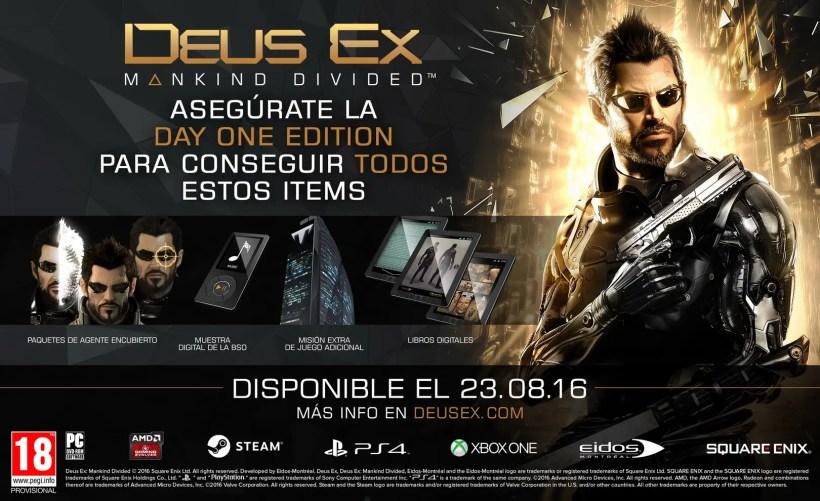 Deus Ex Mankind Divided edición day one