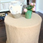 How To Make A Burlap Tablecloth