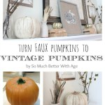 Vintage Chalk Paint Pumpkins