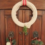 No Sew Wreath Using Sleeves of an Old Sweater