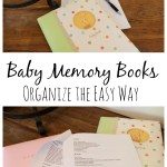 Organize Baby Memory Books