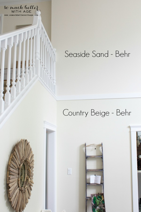 Behr paint / Neutral foyer via somuchbetterwithage.com