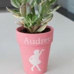 Little Girl's Painted Plant Pot