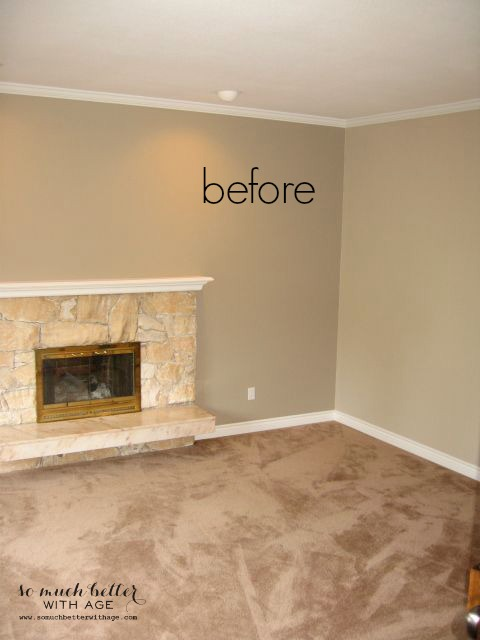 Paint your 80s fireplace with spray paint