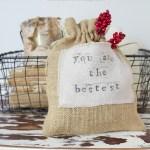 DIY Burlap & Drop Cloth Gift Bag