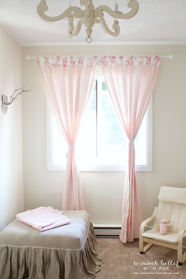Scandinavian looking girl's room by somuchbetterwithage.com