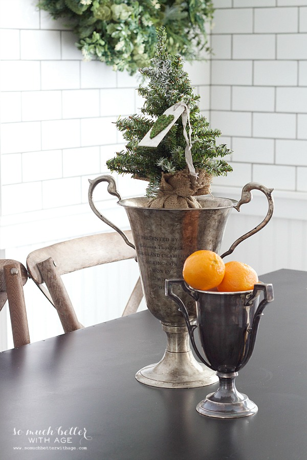 Christmas trophies Holiday Housewalk by somuchbetterwithage.com