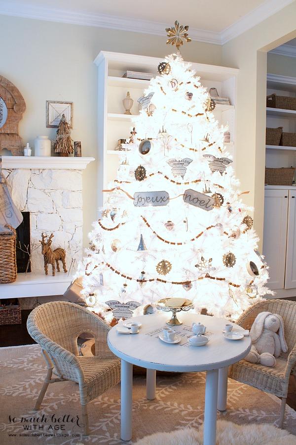 Pikes Peak white Christmas tree Balsam Hill | somuchbetterwithage.com