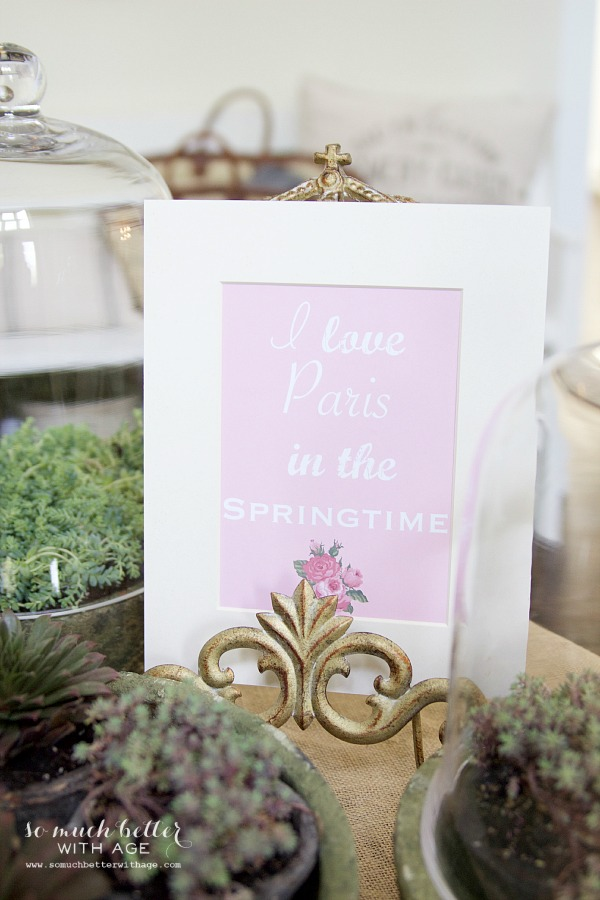 I love Paris in the springtime printable | somuchbetterwithage.com