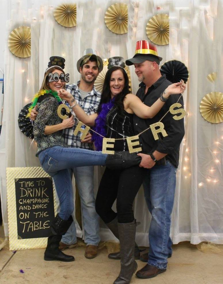 new years eve 2016 friends silly photo props
