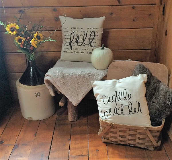 home decor Decorate with Pillows for Fall