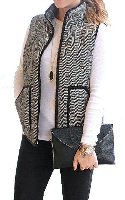 fall winter look quilted herrington puffer vest 1