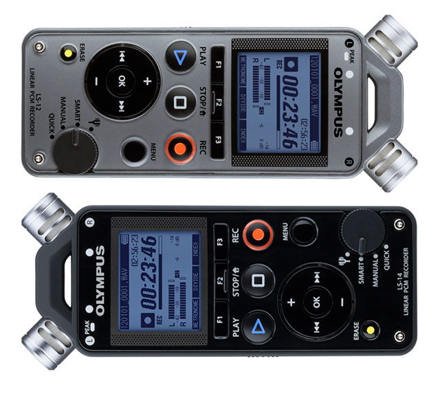 Olympus LS-12 and LS-14 audio recorders