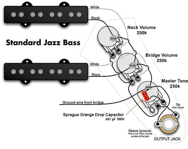 Fender Squier Affinity Jazz Bass Wiring Diagram Wiring Schematic