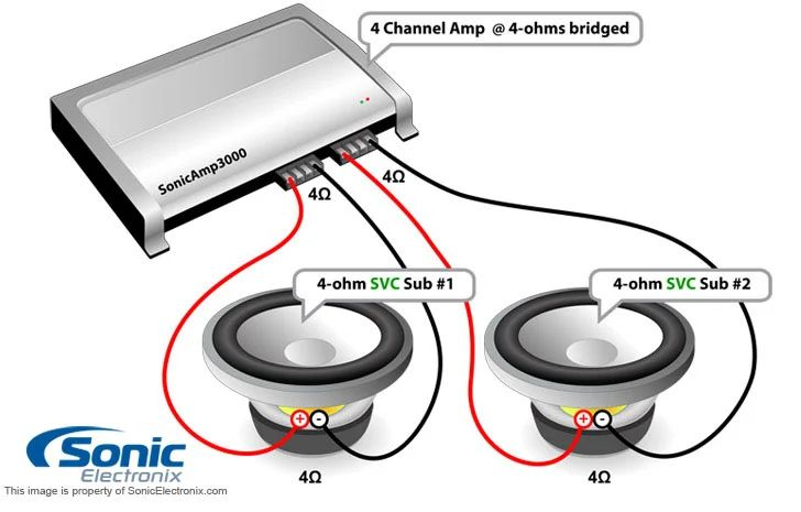 svc 4 ohm subwoofer wiring diagram