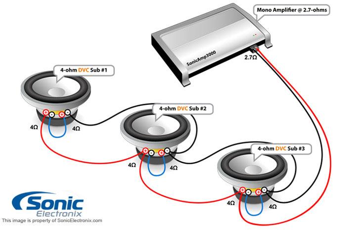 4 Ohm Wiring Diagram - Wiring Data Diagram