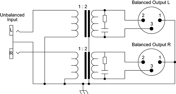 unbalanced to balanced wiring
