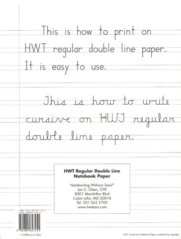 Lined Paper for approx levels 2-3 - line paper