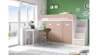 Lit mezzanine avec bureau moderne et fun - GLICERIO - SO NUIT