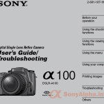 Sony Alpha DSLR-A100 User Manual