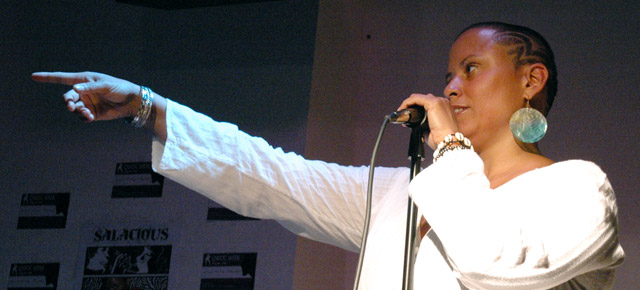 Event photos of OUTSPOKEN 2011: Queer Women of Color & Trans POC spoken-word and live music showcase