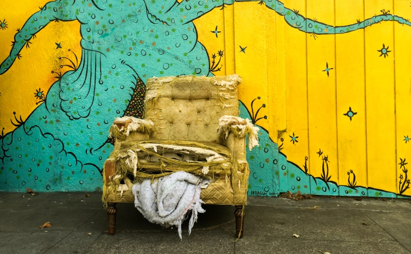 Photos of the Roman Chariot Mural in Temescal Oakland