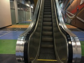 First coworking space with escalators? Quite possibly.