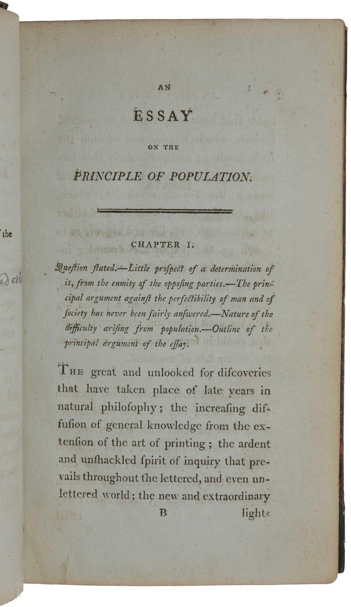 Malthus Essay On Population An Essay On The Principle Of