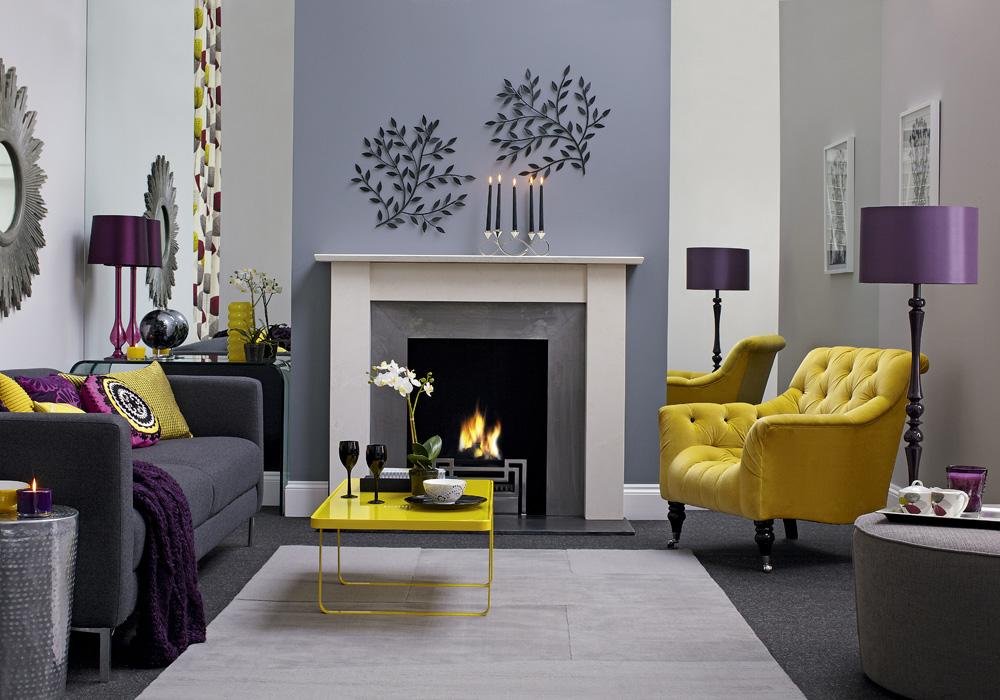 Yellow Purple And Grey Living Room u2013 Modern House - purple and grey living room