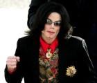 US Pop star Michael Jackson arrives at t