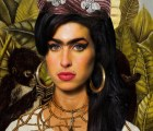 Amy Winehouse, a la Frida Kahlo