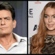 Charlie Sheen y Lindsay Lohan en Scary Movie 5