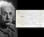 Subastarán carta de Einstein donde habla sobre Dios