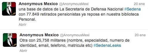 Anonymous tweet
