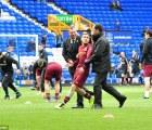 Simon Brodkin, atrapado en el entrenamiento del Manchester City