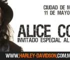 Alice Cooper como invitado especial en evento de Harley-Davidson México