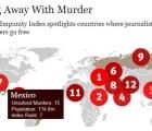 México es séptimo lugar en cuanto a impunidad en delitos contra periodistas