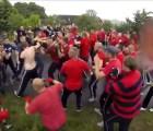 """Video: Un grupo de """"hooligans"""" se pelean a mano limpia en Suecia"""