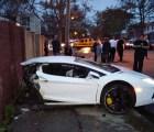 Microinfarto: Partió el Lamborghini que manejaba, y salió ileso