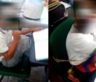 Amarrar con cinta canela a los alumnos es permitido por la reforma educativa, alega maestra