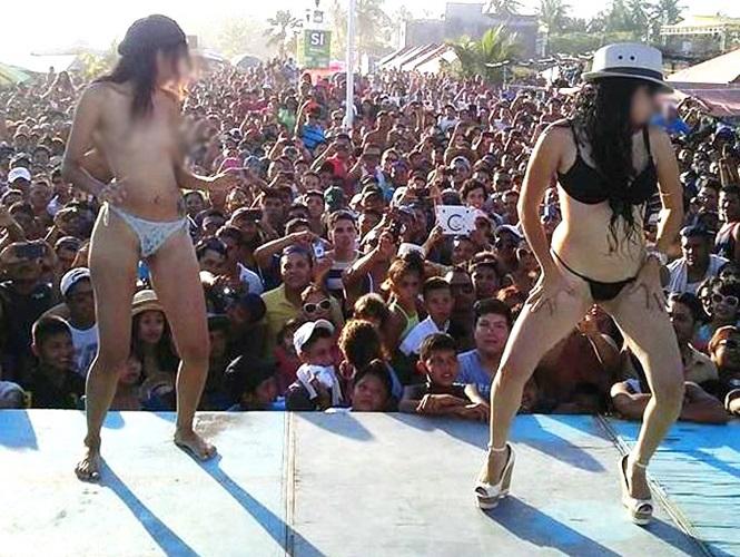 Damas locales publican fotos de desnudos