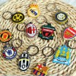 BRZ016-Juve-Milan-Arsenal-Dortmund-Barcelona-Real-Madrid-Team-Logo-Key-Chain-15-pieces-pack-Beautiful